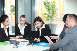 five staff meeting